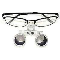 594394586ca18e Vinmax Loupe Optique Binoculaire, Loupe de Lunette Chirurgicale Dentaire  Médical pour Dentistes - 3.5 X