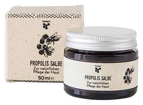 beegut Propolis Salbe, zertifizierte Naturkosmetik aus dem Allgäu, hochwertiges Balsam mit 5{fb1007a959a02dbc53d48a66f3a4f7c303f06bc3835d44814c2e57642c34d73c} Propolis zur natürlichen Pflege & Schutz der Haut