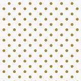 Rico Design Baumwoll-Stoff Goldene Punkte 140 cm breit (Meterware)