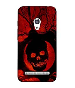 PrintVisa Designer Back Case Cover for Asus Zenfone 6 A600CG (Horror Poster Fear Drad Bone Devil Mummy)