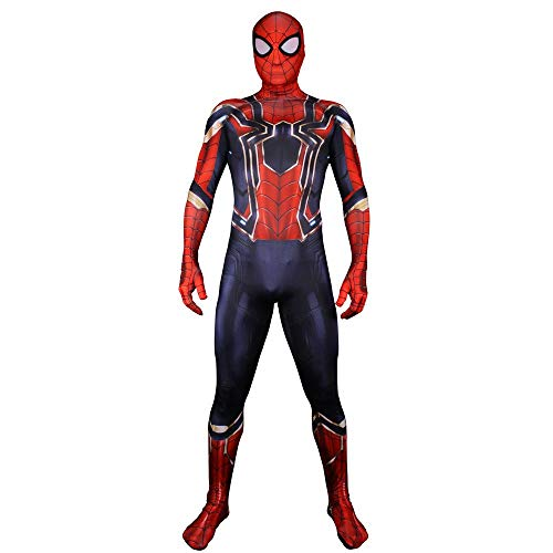 Spiderman Erwachsene Kind Kostüm Cos Kostüm Halloween Weihnachten Cosplay Requisiten Phantasie Overall 3D Prin Lycra Strumpfhosen Party Kleid Womens-XL