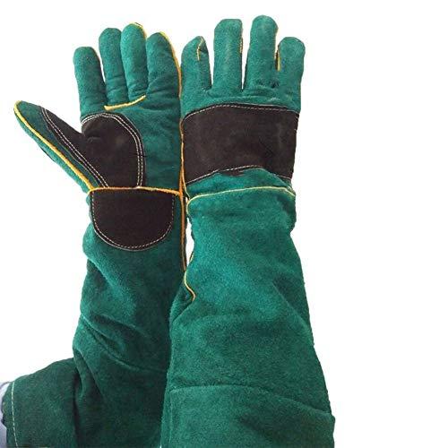 GONGFF Anti-Bite-Handschuhe Anti-Dog Bite-Handschuhe aus gefrostetem Leder mit Stichschutz und Einer Stärke von 60 cm -