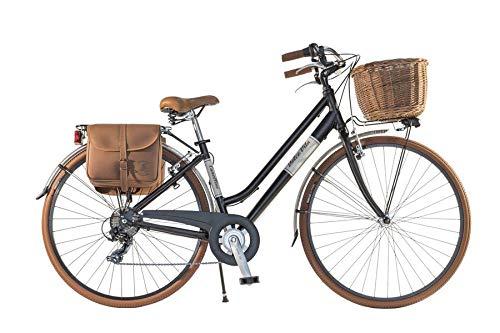 Canellini Via Veneto by Fahrrad Rad Citybike CTB Frau Vintage Retro Dolce Vita Aluminium Schwarz Black matt (46)