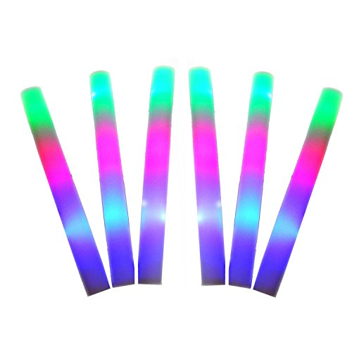 LED Leuchtstäbe [12PCS], Beetest® Leuchtstab LED bunte Schwamm Leuchtstäbe, Leuchtstofflampen für Konzerte / Club Cheers / Bar Partys / Kinder spielen Geschenke