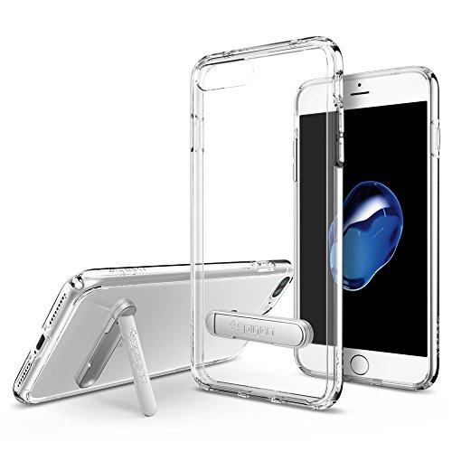 Spigen - Funda iphone 7 plus, [ultra hybrid s] metal kickstand [crystal...