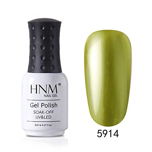 HNM Métallique Gel Vernis Semi Permanent Métal Vernis À Ongles En Gel Soak Off Renforcer Gel Base Coat DIY 8ML - M5914