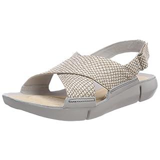 Clarks Women's Tri Chloe Sling Back Sandals, Silver (Metallic), 6 UK