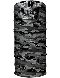 SA Face Shield Bandana Máscaras Grey Military Camo Skull - EL ORIGINAL -