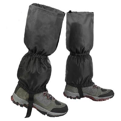 Atmungsaktive Klassisch Wasserdichte Wanderstiefel Gaiter Gamaschen für Bergsteigen Wandern Trekking Angeln Schwarz
