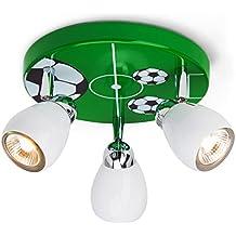 Luz de techo de fútbol con 3 puntos, Ø 31 cm, incl. Halógena