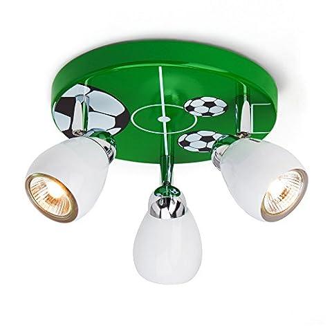 Football lumière de plafond avec 3 spots, Ø 31 cm,