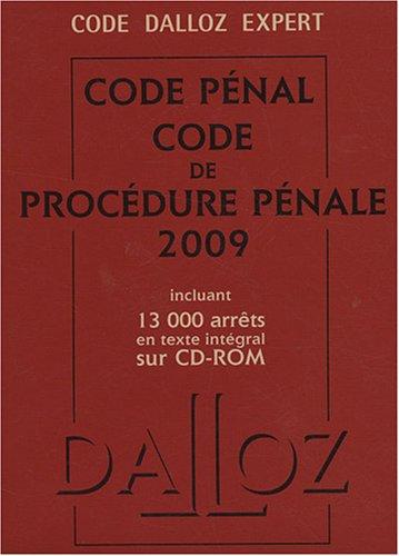 Code pénal et procédure pénale (1Cédérom)