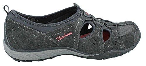 Skechers - Breathe-easycarefree, Sneaker basse Donna Charcoal