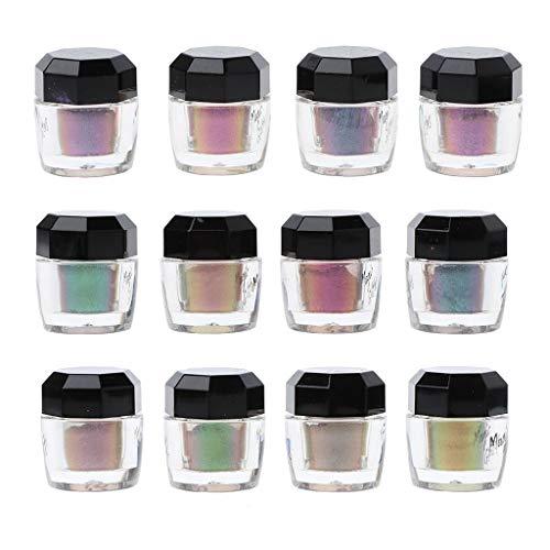 Epoxy UV-Harz Pulver Perlglanz Glimmer Regenbogen Pigment Langlebig Neu