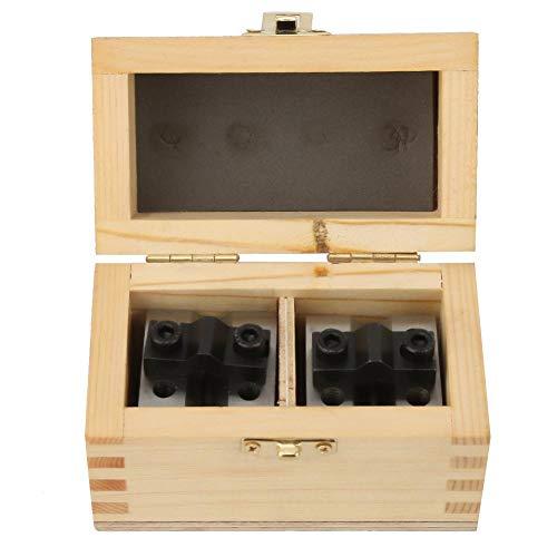 2 Stück V-Block Messgerät, Präzise 35x35x30mm 90 ° Maschinist V Block Ground Pair mit Klemme -