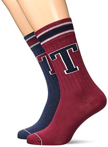 Tommy Hilfiger Herren Socken Men TH Patch 2P, 2er Pack, Blau (Jeans 356), 39/42 (Herstellergröße: 039)