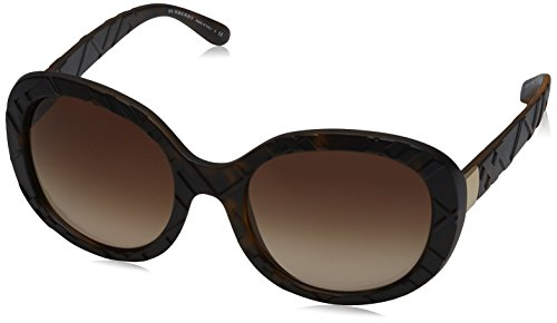 Burberry 0be4218 357813, occhiali da sole donna, marrone (matte dark havana/browngradient), 56