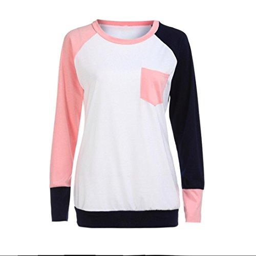 Dinglong Camicia - Casual - Maniche Lunghe - Donna Pink