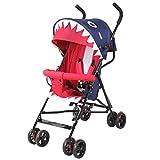 ZWL Bébé Panier Ultra-Léger Portable Peut S'asseoir Demi Couché Parapluie Enfant Chariot Pliant Simple Voiture Bébé,Blue