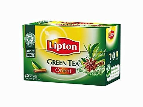 Lipton GREEN TEA ORIENT Tea Bags - Sealed Boxes of 6 x 20 bags = 120 tea bags
