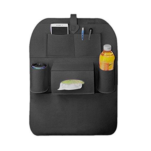 sourcingmap® Noir Voiture siège polyvalent intérieur poche porte-accessoire