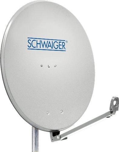 Schwaiger SPI910.0 Aluminium Offset-Parabolantenne (88 cm) hellgrau
