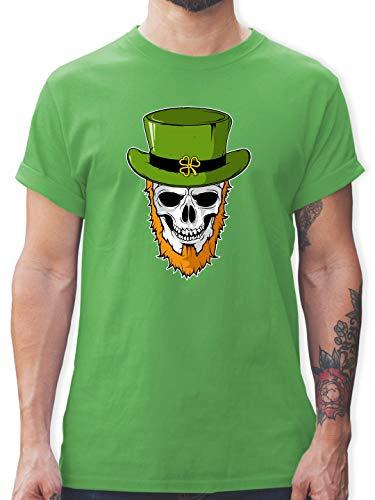 St. Patricks Day - St. Patricks Day - Totenkopf - XXL - Grün - L190 - Herren T-Shirt und Männer Tshirt (Paddy's Day Kostüm)