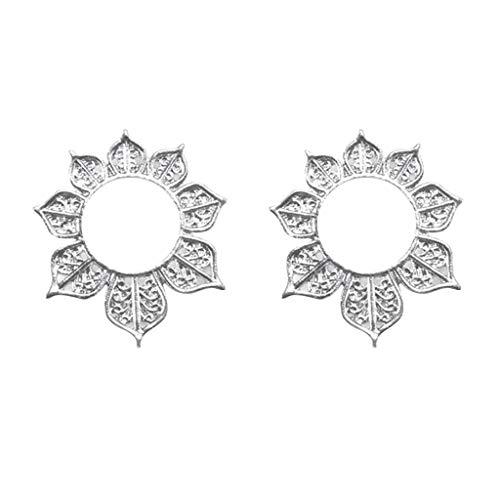 Floweworld Ohrringe Damenmode Geometrische Metall Openwork Blume Runde Sonne Blume Ohrstecker ()