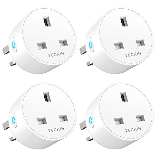 Smart Plug WiFi Outlet TECKIN Mini Plug Works with Amazon Alexa, Google  Home and IFTTT, Wireless Smart Socket Remote Control Timer Plug Switch, No  Hub