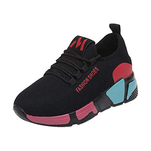 iHENGH Scarpe Sport Respirante Pu per Donna Scarpa da Ginnastica Ragazza Scarpe Runningmoda Casual Shoes Women 2019 Nuovo Pelle Fashion Sneakers Estate Bianco