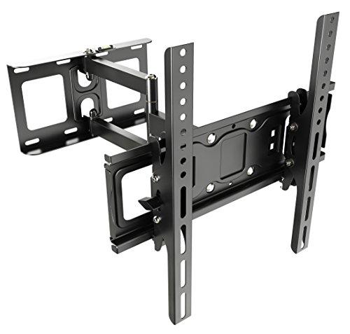 RICOO TV Wandhalterung S6144 Universal Fernseh Halterung Schwenkbar Neigbar Wand Halter Aufhängung auch für Curved LCD und LED Fernseher | ca. 81-165cm / 32-65 Zoll | VESA 200x100 400x400 | Schwarz