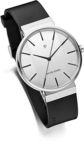 Jacob Jensen Unisex-Adult Analogue Quartz Watch with Rubber Strap JJ707