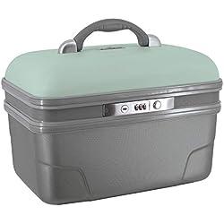 Savebag-Vanity19242, Beauty case 34 cm, Fassungsvermögen: 13 L-Hellgrün / grau
