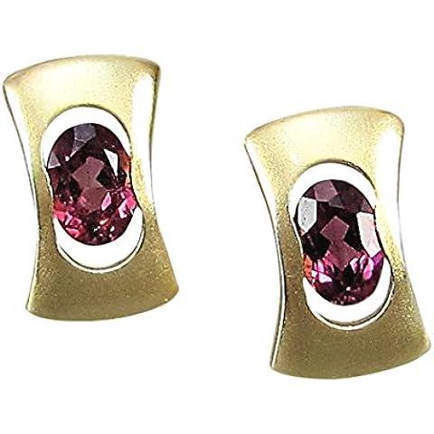 Gioielli-Michel orecchini 585 oro tormalina rosa oro 1,5 (8254)