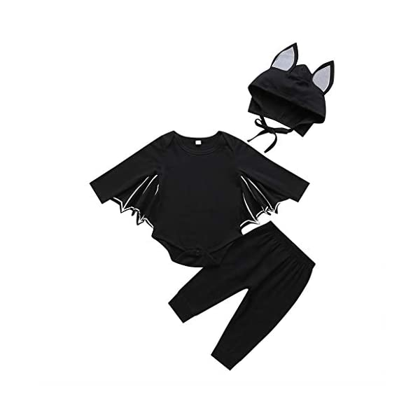 HAOHEYOU Halloween Cosplay Costume Romper Hat Outfits Set For Toddler Newborn Baby Boys Girls Outfit Bodysuit 1