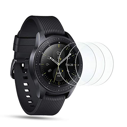 d01ff9095 OMOTON  3 Pièces  Film Samsung Galaxy Watch 42 mm 2018 Vitre Verre Trempé.