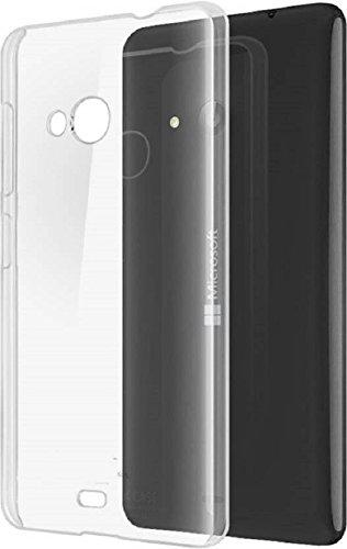 Pinaaki Enterprises Soft Silicone Transparent Crystal Clear Soft Back Case Cover for Nokia Lumia 535