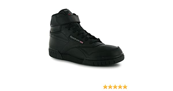 c7fe80fd909 Reebok Mens Exofit Hi Top Trainers Lace Up Casual Sports Shoes Footwear  Black UK 10(44.5)  Amazon.co.uk  Shoes   Bags
