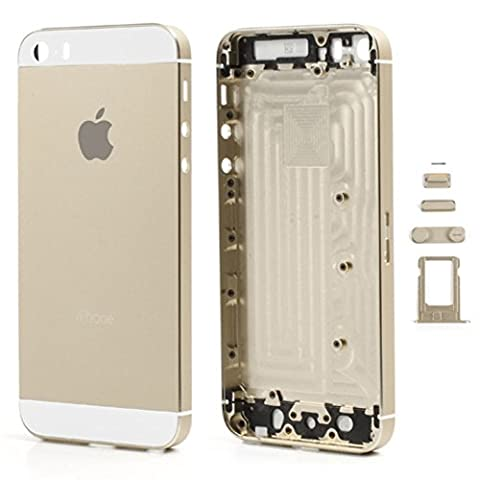 Batterie Gold Iphone 5s - Imprimé châssis couvercle Batterie + Boutons +