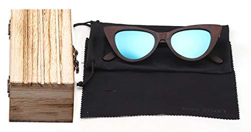 DAIYSNAFDN Holz Sonnenbrille Frauen Bambus Rahmen Brillen Polarisierte Gläser Brille Shades Uv400 Schutz Eyewear C1