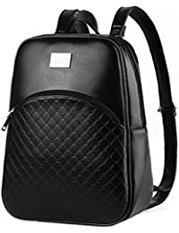DI GRAZIA Women's Small PU Leather Black Casual Backpack