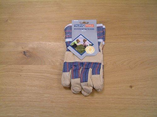 Arbeitshandschuhe für Kinder / 1 Paar / Farbe: blau/hellbraun / Größe: 7,5' / Maß eines Handschuhs: ca. 20 x 10 cm / 3+