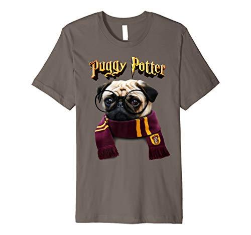 Puggy Potter Tshirt - Süßes und lustiges Mops T-shirt - Hund (Mops Lustig Kostüme)