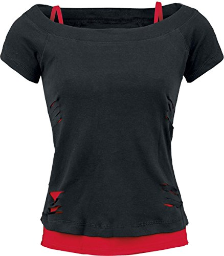 Spiral - 2 In 1 Ripped Red/Black (T-Shirt Donna L)