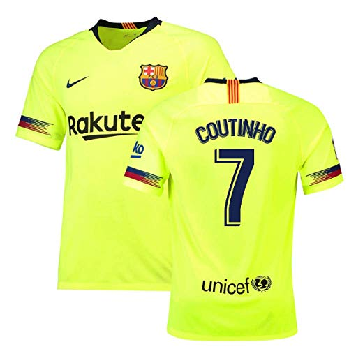 2018-19 Barcelona Away Football Soccer T-Shirt Maillot (Philippe Coutinho 7)