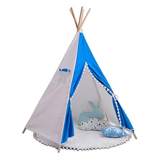 JINGJING Indisch Zelt Kinder Tipi Tragbar Baby Innen Puppenhaus mit Fahnen Rollo und Tasche