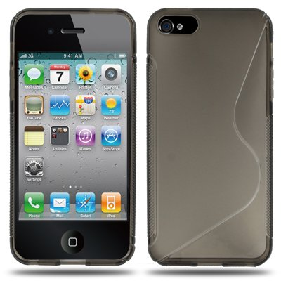 Coque Iphone 5/5s en gris en silicone-Original seulement de thesmartguard