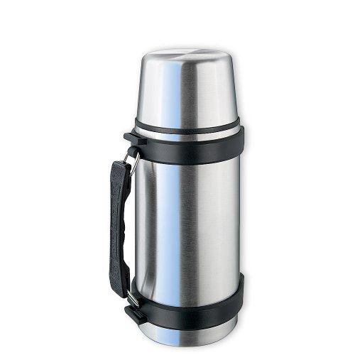 Isosteel VA-9551Q Thermos in acciaio INOX 0,5 L con sistema Quickstop, manico...