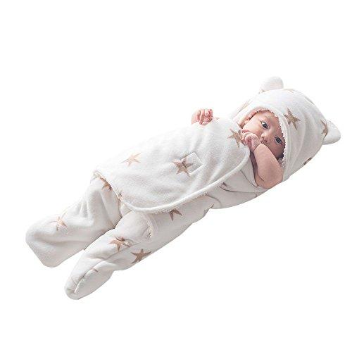GreForest Bambino Swaddle Coperta Blue Star Separare le gambe per l'autunno e inverno, Medium, 3-6 mesi