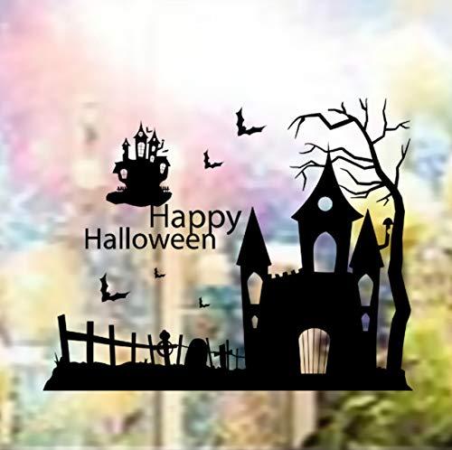 Rureng Happy Halloween Spukhaus Shop Showcase GlasFestival WandaufkleberHomer Wandbild Wandkunst